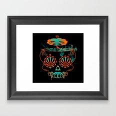 Candy skull  Framed Art Print