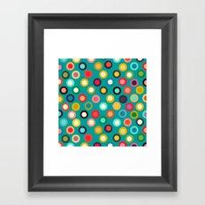 turquoise pop spot Framed Art Print