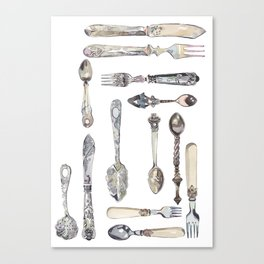 Cutlery Collection Canvas Print