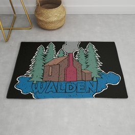 Walden - Henry David Thoreau (Coloured textured version) #society6 #decor #buyart Rug