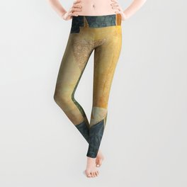 Abstract Grunge Patchwork Leggings