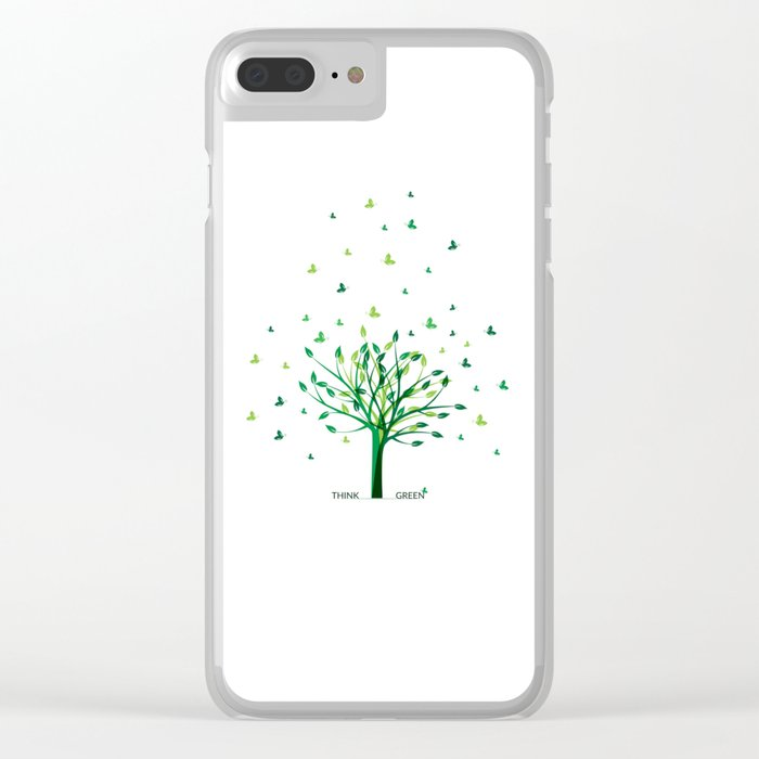 Think green! Clear iPhone Case