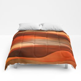 """Sea of sand and caramel waves"" Comforters"