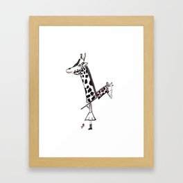 Giraffe Girl Framed Art Print