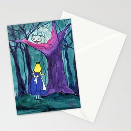 Alice Meets the Cheshire Cat Stationery Cards