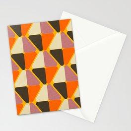 Cube Triangle Mod Orange Stationery Cards