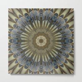 Stay cool floral mandala Metal Print