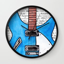 Music for the Soul & Spirit - Blue Series Wall Clock