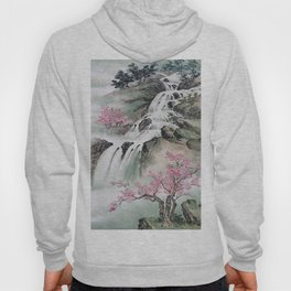 WATERFALLS AND MOUNTAIN LANDSCAPE Hoody
