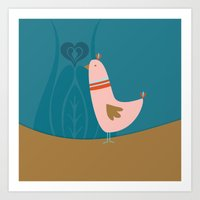 Folsky bird Art Print