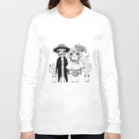 day of the dead Long Sleeve T-shirts featuring Day of the Dead by Mono Ahn