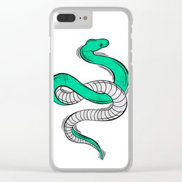 GREEN SNAKE Clear iPhone Case