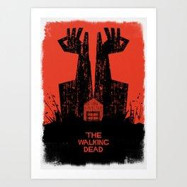 The Walking Dead. Art Print