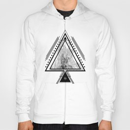 Wiccan Fire Element Symbol Pagan Witchcraft Triangle Hoody
