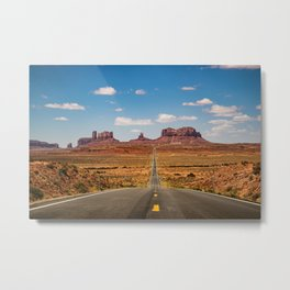 On the Open Road - Monument Valley Metal Print