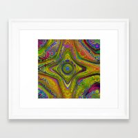 kaleidoscope Framed Art Prints featuring Kaleidoscope by Amanda Moore
