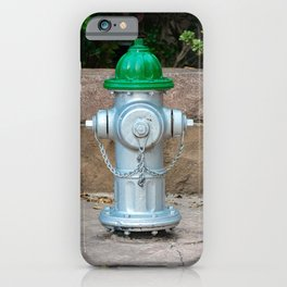 Super Centurion in Sliver and Green Fire Hydrant Fire Plub iPhone Case