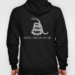 Don't Tread On Me Snake Flag, white snake version Hoody