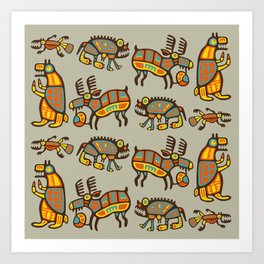 Fabulous Animals Art Print