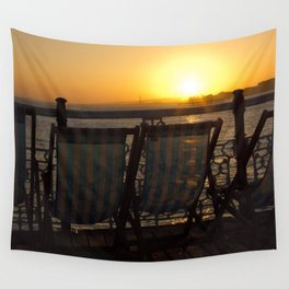 Sunset from Brighton Pier Wall Tapestry