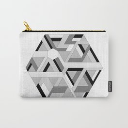 Hexagon monochrome Carry-All Pouch
