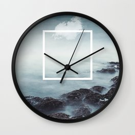 merging sky and sea Wall Clock