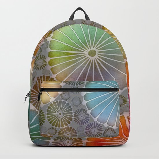Abstract Floral Circles 4 Backpack