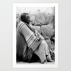 Old lady in Peru Art Print