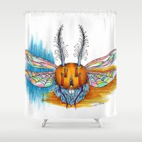 bug Shower Curtains featuring Bug by Mr Sarah Lou