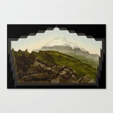 Shattered mountain Canvas Print