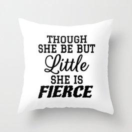 Little & Fierce Throw Pillow