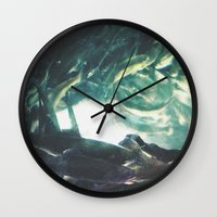 trout Wall Clocks featuring Yinzer Trout by Mt Zion Press