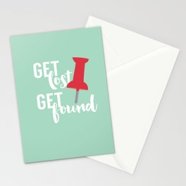 Get Lost Get Found 2.0 Stationery Cards