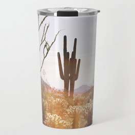 cactus in the desert Travel Mug