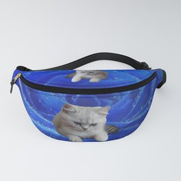 Cat and Rose Fanny Pack