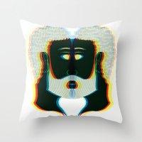 greek Throw Pillows featuring Greek by Giovanni Choisy