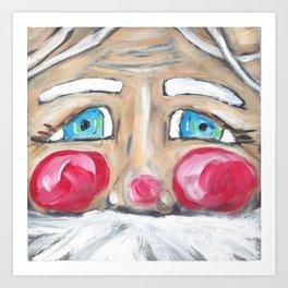 Santa Claus Face Art Print