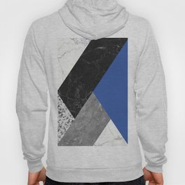 Black and White Marbles and Pantone Lapis Blue Color Hoody