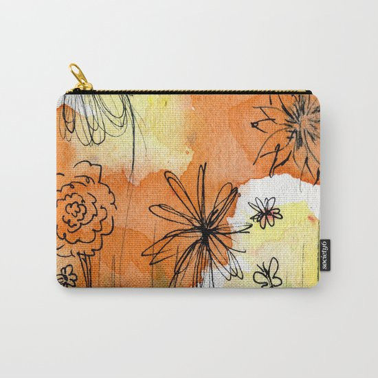 Flower Doodle 2 Carry-All Pouch