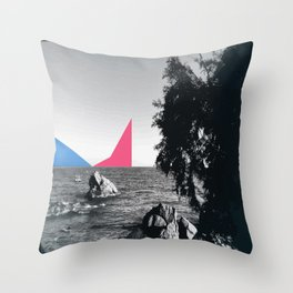 Cannes at the sea Throw Pillow