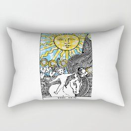 Floral Tarot Print - The Sun Rectangular Pillow