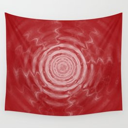 Ripples_Red Wall Tapestry
