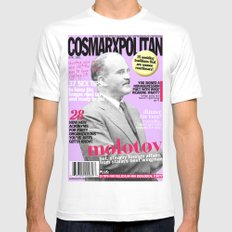 COSMARXPOLITAN, Issue 17 Mens Fitted Tee White MEDIUM