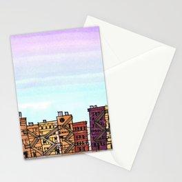 New York Purple Sky Stationery Cards