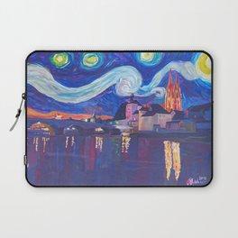 Starry Night in Regensburg  Van Gogh Inspirations on River Danube Laptop Sleeve