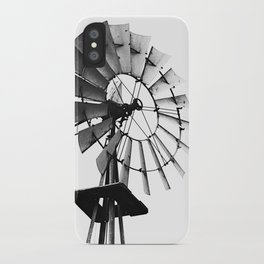 Windmill Black and White iPhone Case