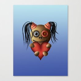 Heart Pigtails Canvas Print