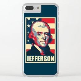 Thomas Jefferson America Pop Art Clear iPhone Case