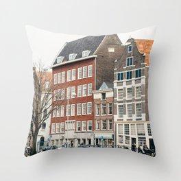 Amsterdam love Throw Pillow