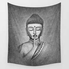 Shh... Do not disturb - Buddha Wall Tapestry
